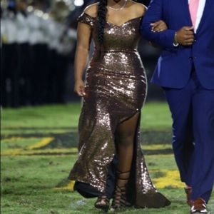 Sequenced bronze Gold Prom / Home coming dress